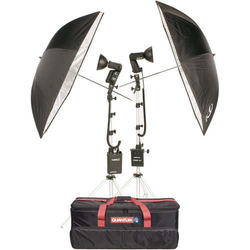 Quantum Instruments 2-Head Flash Kit w/ Trio & T5dR Flash Heads & Turbo 3 & Turbo SC Batteries for Nikon Cameras