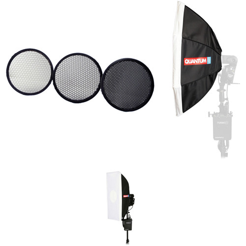 Quantum Instruments Honeycomb Grid and Softbox Kit