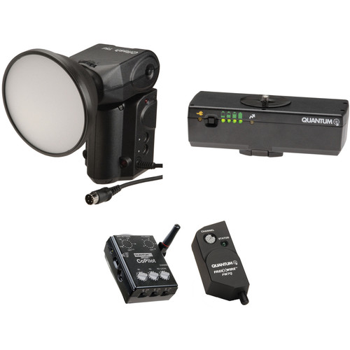 Quantum Instruments Qflash T5d-R Flash Kit with Battery Pack, FreeXwire Receiver, & CoPilot Controller for Canon Cameras