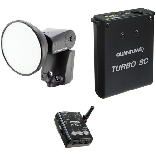 Quantum Instruments Qflash TRIO Flash Kit with Turbo SC Battery Pack & CoPilot Controller for Canon Cameras