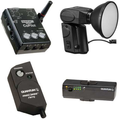 Quantum Instruments Qflash T5d-R Flash Kit with Battery Pack, FreeXwire Receiver, & CoPilot Controller for Nikon Cameras