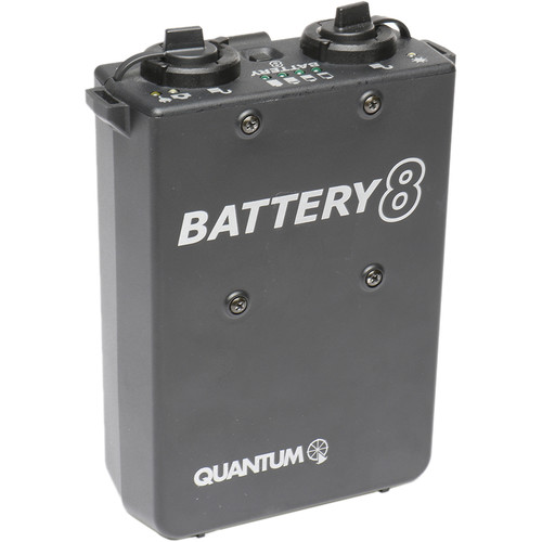 Quantum Instruments QB8 Rechargeable Battery with Charger for OMICRON 4 Video Light (Europe)