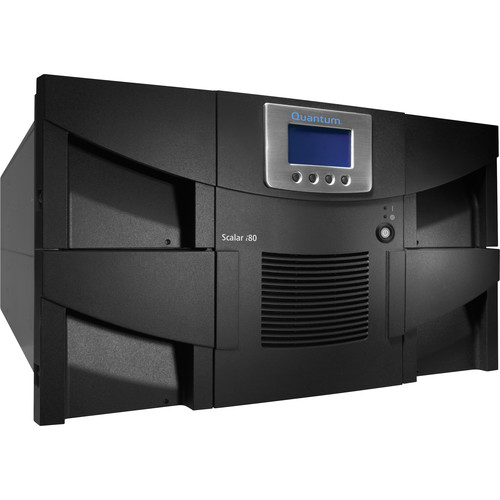 Quantum Scalar i80 Library with Two LTO-6 Tape Drives (80 Slots, Dual Power Supplies, Advanced Features, Fibre Channel
