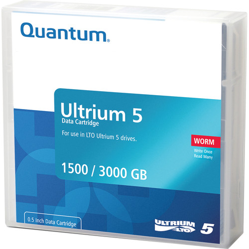 Quantum MR-L5MQN-02 LTO Ultrium 5-Tape WORM Cartridge (1.5/3.0TB)