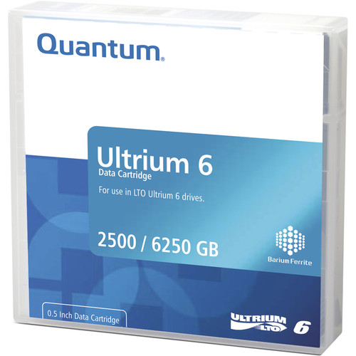 Quantum MR-L6LQN-BC LTO Ultrium 6-Tape Bar-Code Labeled Cartridge Library Pack of 20 (2.5/6.25TB)