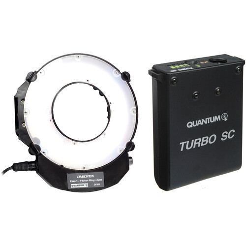 Quantum Instruments Omicron OM3 TTL Flash and Auto-Tracking Video Light with Turbo SC Power Pack Kit
