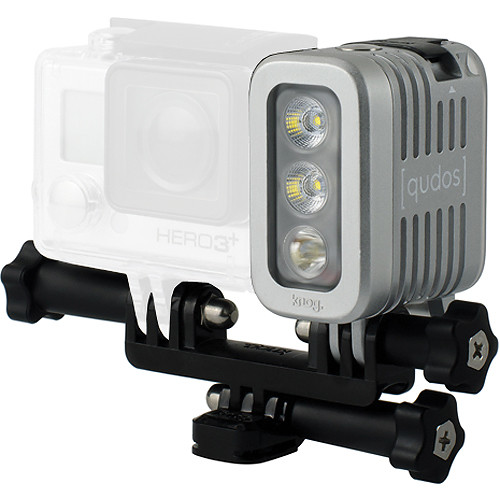 Qudos Action Waterproof Video Light for GoPro HERO by Knog (Silver)