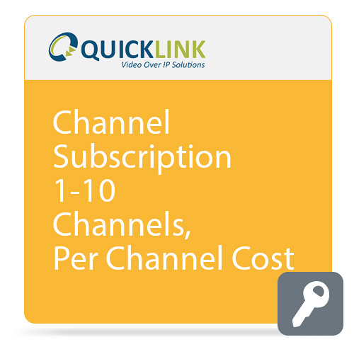 Quicklink Remote Communicator Subscription (1-10 Channels, per-Channel Cost)