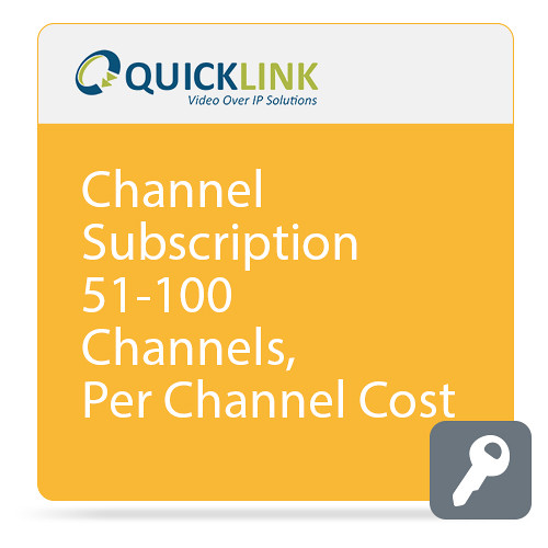 Quicklink Remote Communicator Subscription (51-100 Channels, per-Channel Cost)