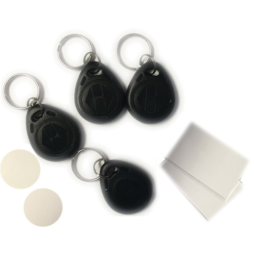 QuickSafes 4 RFID Key Kit (2 Cards, 1 Fob, 1 Token)
