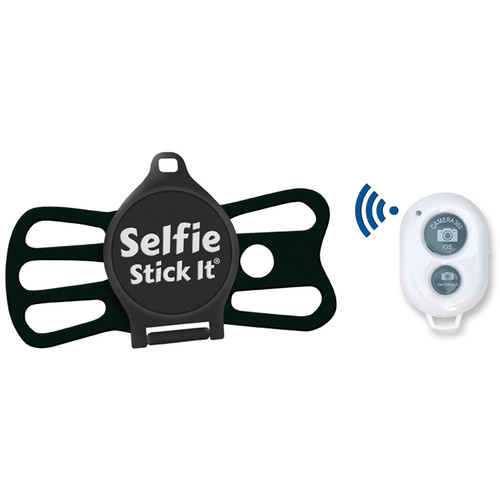 Quik Pod Selfie Stick-It with Bluetooth (Black Body/Black Grip)