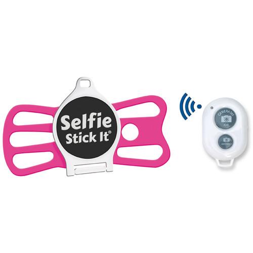 Quik Pod Selfie Stick-It with Bluetooth (White Body/Pink Grip)
