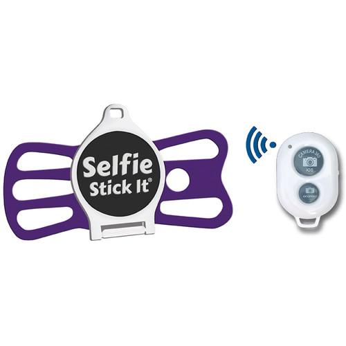 Quik Pod Selfie Stick-It with Bluetooth (White Body/Purple Grip)