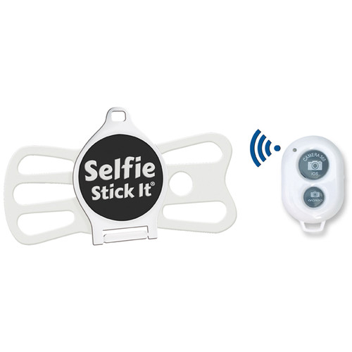 Quik Pod Selfie Stick-It with Bluetooth (White Body/White Grip)