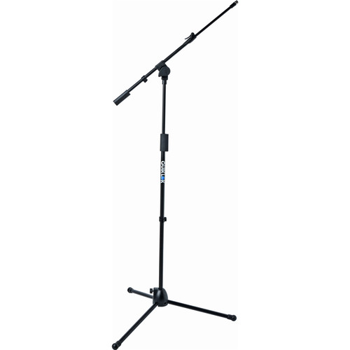 QuikLok A304BKAM Microlite Tripod Microphone Stand with Telescopic Boom