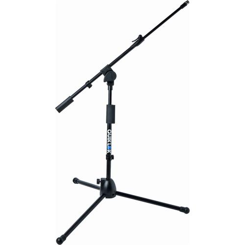 QuikLok A306BKAM Microlite Short Tripod Microphone Stand with Telescopic Boom