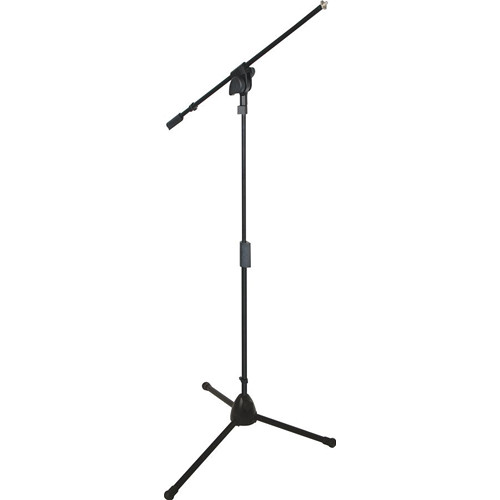 QuikLok A-512 Pro Series Heavy-Duty Tripod-Base Mic Stand with Fixed Boom (Black)