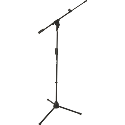 QuikLok A-514 Pro Series Heavy-Duty Tripod-Base Mic Stand with Telescopic Boom (Black)