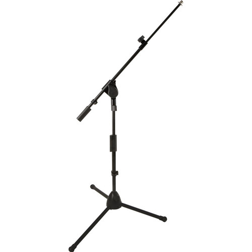 QuikLok A-516 ProSeries Short Heavy-Duty Tripod Base Mic Stand with Telescopic Boom (Black)