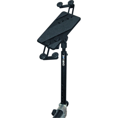 QuikLok IPS-13 X-Style Keyboard Stand-Mount Universal Tablet Holder (Black)