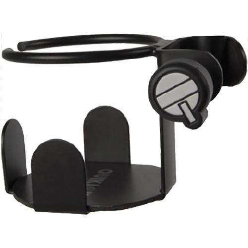 QuikLok MS-326 Clamp-On Metal Beverage Holder for Mic Stands (Black)