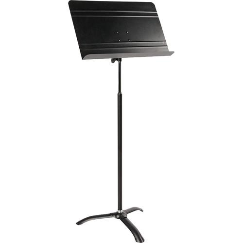 QuikLok MS-766 Orchestra Sheet Music Stand (Black, Chrome Telescoping Mast)