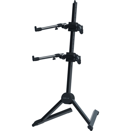 QuikLok Double-Tier Slant Keyboard Stand with Adjustable Tiers