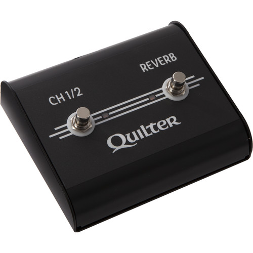 Quilter 2-Function Footswitch for Aviator, MicroPro Mach 2 & Steelaire Series Amps