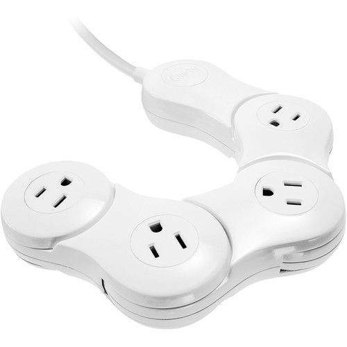 Quirky Pivot Power Junior - 4 Outlet (White)