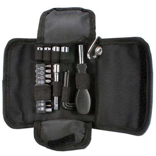 QVS 19-Piece Technician's Tool Pouch (Black)