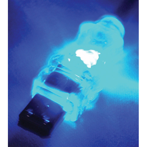 QVS FireWire/i.Link 6-Pin Translucent Cable with Blue LEDs (3')
