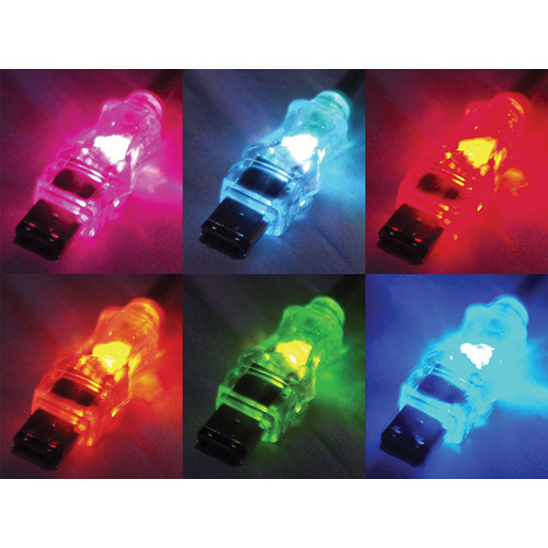 QVS FireWire/i.Link 6-Pin Translucent Cable with Multi-Color LEDs (6')