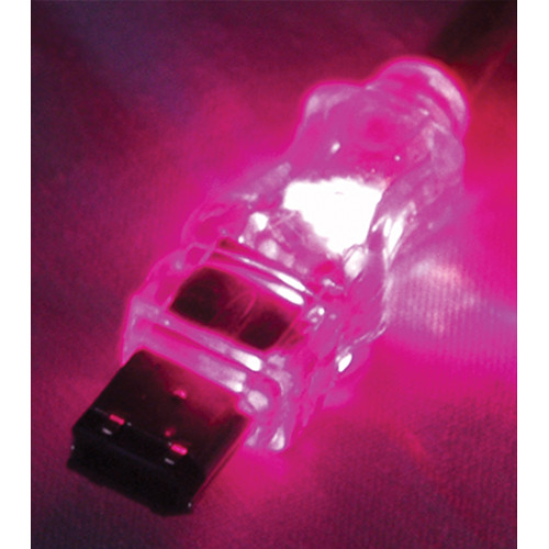 QVS FireWire/i.Link 6-Pin Translucent Cable with Purple LEDs (6')