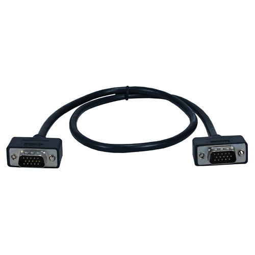 QVS HD15 Male to HD15 Male Cable with Panel-Mountable Connectors (2')