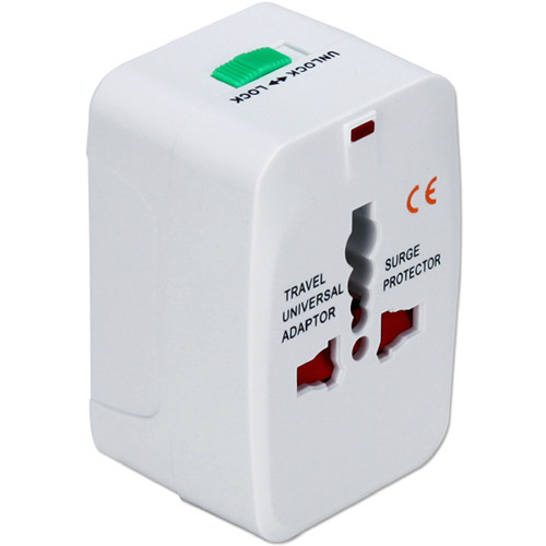 QVS World Power Travel Adapter Kit with Surge Protection (White)