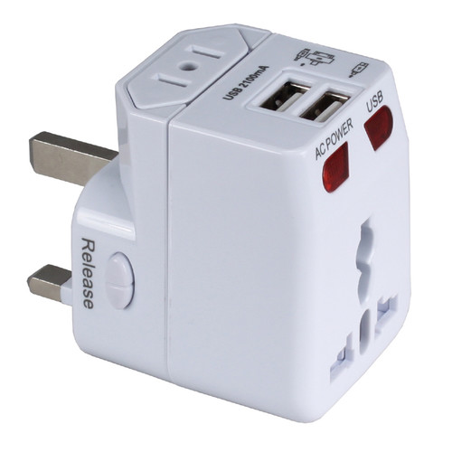 QVS Premium World Power Travel Adapter Kit (White)