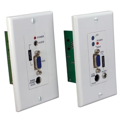 QVS VA-EWP VGA/UXGA Audio/Video over CAT5e Wall-Plate Extender Kit