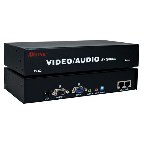 QVS VAC5-EX2 VGA/QXGA/Stereo Audio over CAT5e Transmitter Module with Local VGA/Audio & 2 RJ45 Ports (984')