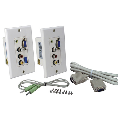 QVS VARCA-1P PC/VGA & Composite Video with Stereo Audio over Two CAT5e Wall-Plate Extender Kit
