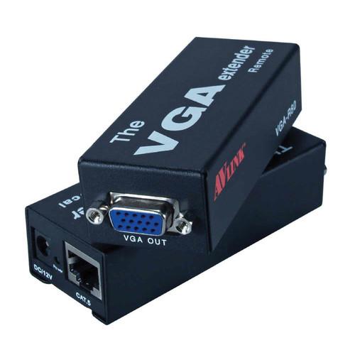 QVS VC5-1P VGA/QXGA Video over CAT5e Single-Power Extender Kit