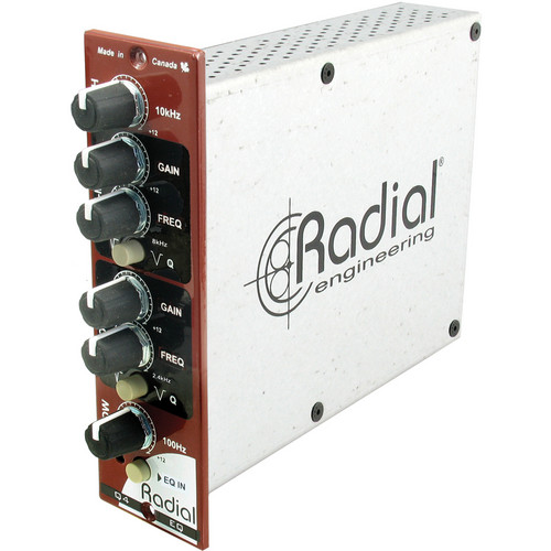 Radial Engineering Q4 100% Discrete State-Variable Class-A Equalizer