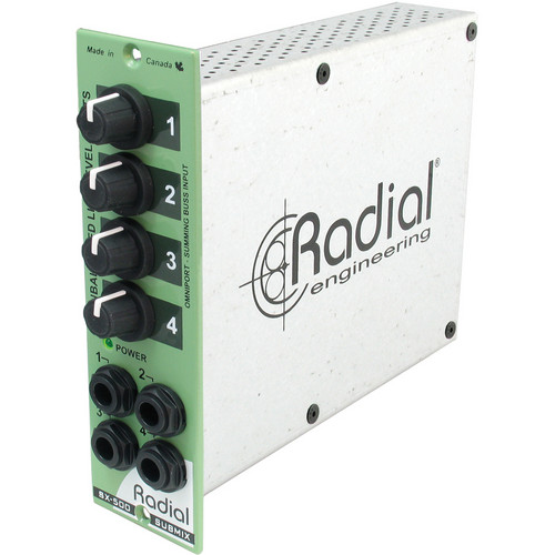 Radial Engineering Radial Submix 4x1 Line Mixer for Keyboards/500 Series Racks