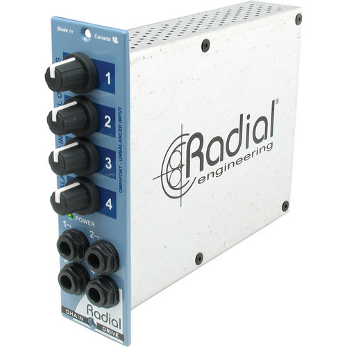 Radial Engineering 500 Series ChainDrive 1 x 4 Audio Distribution Amplifier