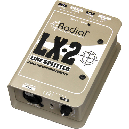 Radial Engineering LX-2 Passive Line Splitter and Attenuator