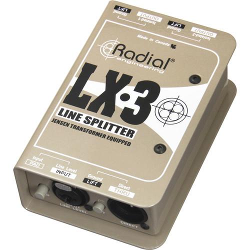 Radial Engineering LX-3 Passive Line Splitter and Attenuator