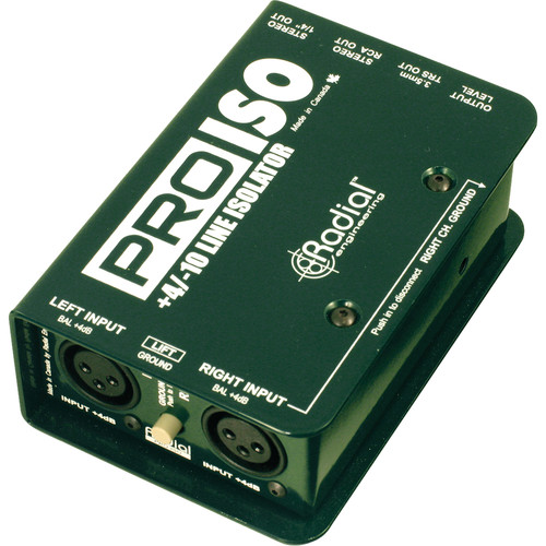 Radial Engineering Pro-ISO +4/-10 dB Stereo Line Isolator