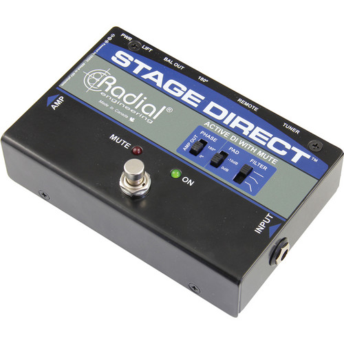 Radial Engineering StageDirect Active Direct Box with Mute Switch