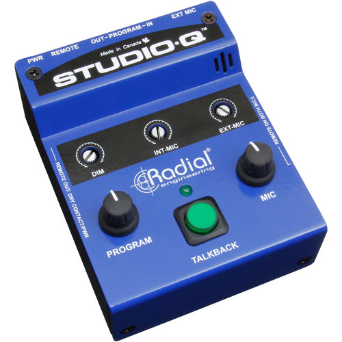 Radial Engineering Studio-Q Talkback Interface with Built-In Mic