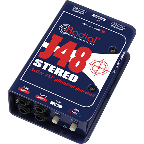 Radial Engineering J48 Stereo Phantom Powered Active Direct Box