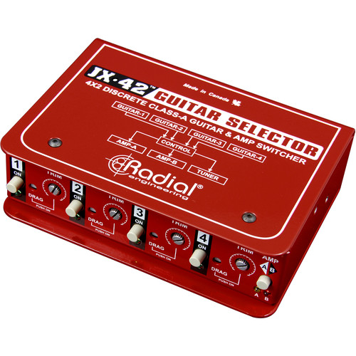 Radial Engineering JX42 Compact Four-Input Guitar Switcher